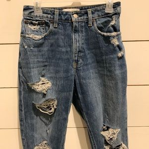 Abercrombie High-Rise Mom Jeans